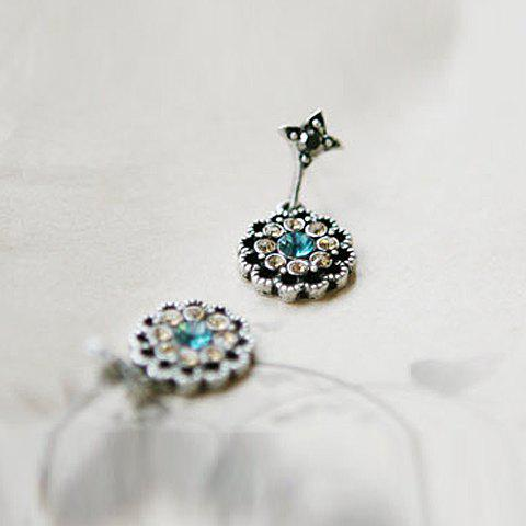 Rhinestone Embellished Waterdrop Shape Earrings - AS THE PICTURE