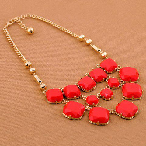 Fashion Characteristic Multi-Layered Gemstone Embellished Women's Alloy Necklace