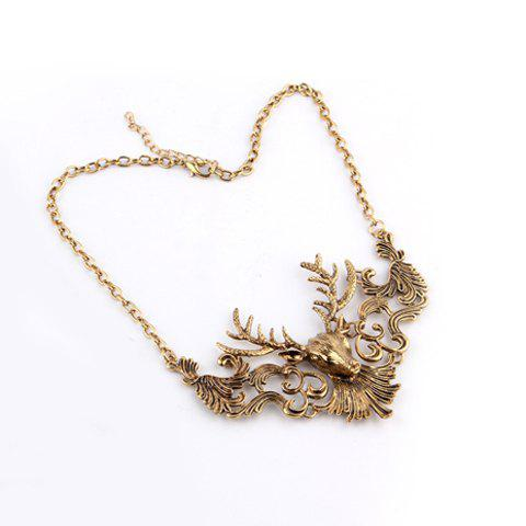 Retro Elk Shape Alloy Necklace For Women