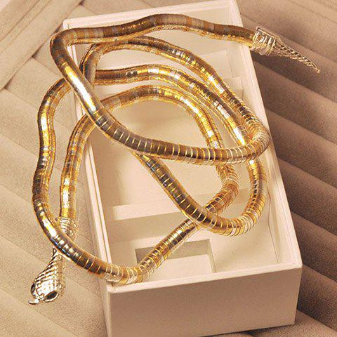 Characteristic Twining Snake Shaped Alloy Bracelet For Women - COLOR ASSORTED