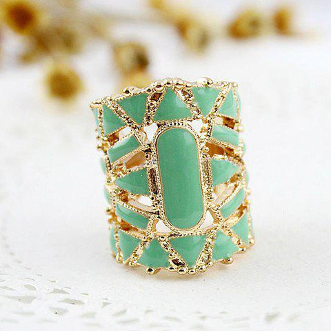 Faux Gem Embellished Finger Ring - GREEN ONE SIZE