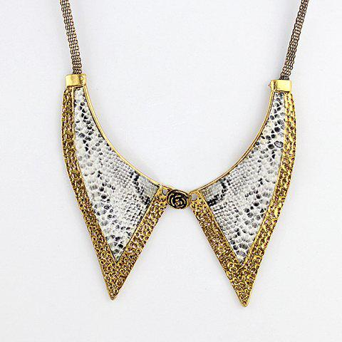 Retro Style Gorgeous Serpentine Embellished Alloy Fake Collar For Women