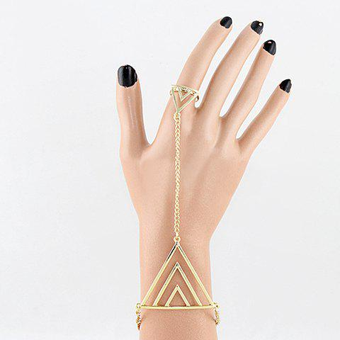 Triangle Bracelet With Ring - AS THE PICTURE