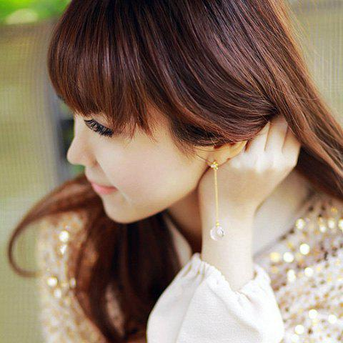 Asymmetric Crystal Ball Shaped Pendants Design Long Tassels Earrings - AS THE PICTURE
