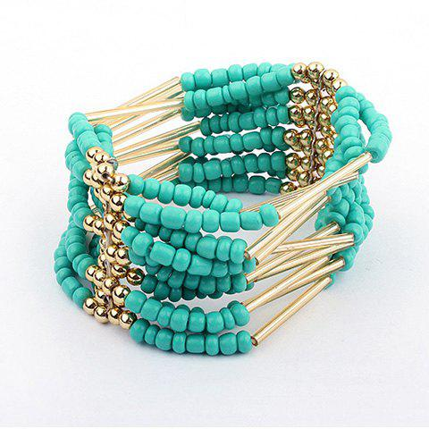 Multilayerd Beads Embellished Bracelets - BLUE