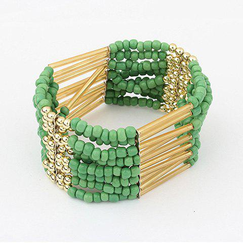 Multilayerd Beads Embellished Bracelets - GREEN