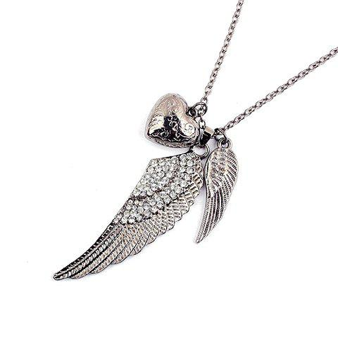 Stylish Fashionable Rhinestone Embellished Wing Shaped Sweater Chain For Women - AS THE PICTURE