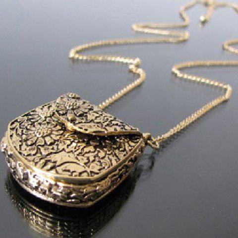 Handbag Shaped Sweater Chain Necklace - AS THE PICTURE