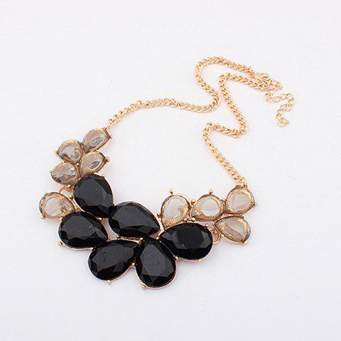 Elegant Rhinestone and Acrylic Embellished Waterdrop Necklace - COLOR ASSORTED