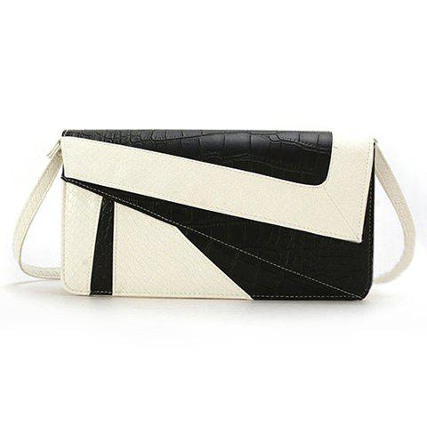 New Arrival Snake Veins and Splice Design Clutch For Women - WHITE