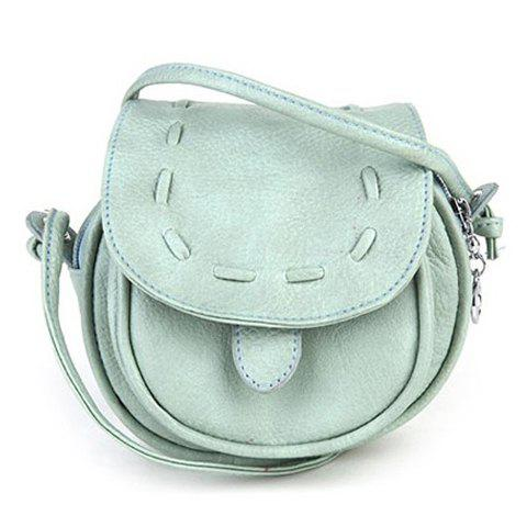 New Arrival Solid Color and Weaving Design Crossbody Bag For Women - LIGHT GREEN