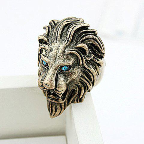 Hot Sale Rhinestoned Solid Color Women's Lion Shaped Ring