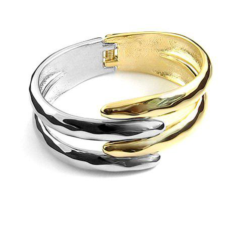 Korea Style Gold and Silver Alternating Bracelet - AS THE PICTURE