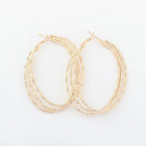 Pair Of Chic Style Solid Color Alloy Multi-Layered Women's Hoop Earrings