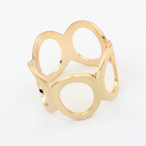 Characteristic Solid Color Alloy Circles Bracelet - GOLD