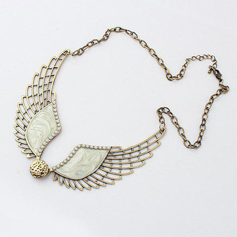 Angel Wing Shape Necklace - WHITE