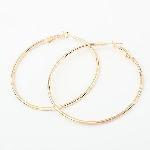 Pair Of Exaggerated Solid Color Alloy Hoop Earrings