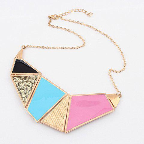 Fashion Splicing Irregular Shaped Pendant Alloy Necklace For Women