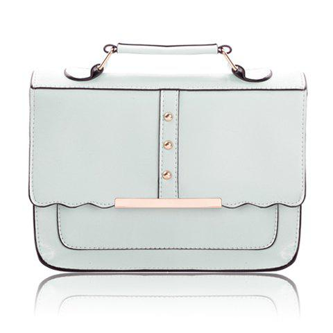 Casual Candy Color and Metal Design Women's Tote Bag - LIGHT BLUE