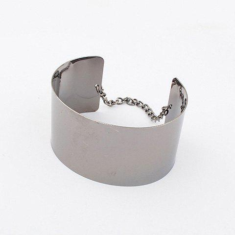 Smooth Metal Wide Opening Bracelet - AS THE PICTURE