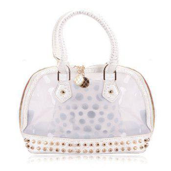 Fashion Style Transparent and Rivets Design Women's Totes