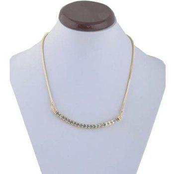 Chic Style Crystals Embellished Camber Pendant Necklace