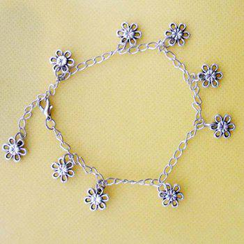 Vintage Style Tibetan Silver Design Women's Tiny Flower Shaped Anklet