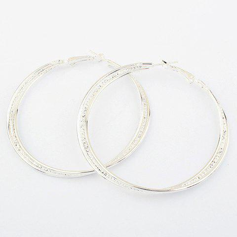 Pair of Brilliant Women's Fringed Round Ring Earrings