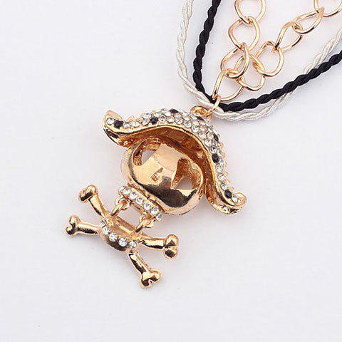 Chic Style Voodoo Doll Shape Pendant Women's Multi-Layered Sweater Chain Necklace - AS THE PICTURE