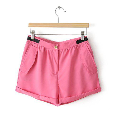 Women's Fashional Lively Slim Fit Shorts - PINK US 36