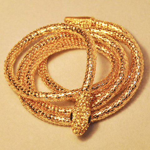 Chic Style Embellished Smooth Snake Shape Necklace - AS THE PICTURE