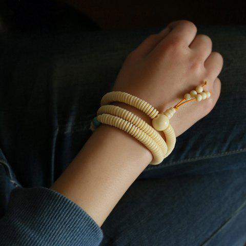 Vintage Chic Style Faux Ivory Embellished Multi-Layered Calabash Shape Bracelet For Women - AS THE PICTURE