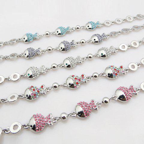 Rhinestoned Fat Fish Bracelet - COLOR ASSORTED