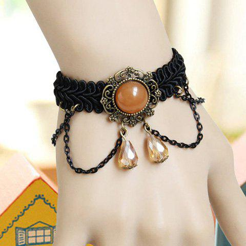 Elegant Chic Style Tassels and Bead Design Crystal Pendants Bracelet For Women - AS THE PICTURE