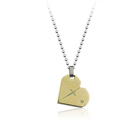 Chic Style Smooth Heart Shape Pendant Necklace - AS THE PICTURE