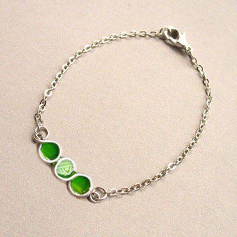 Bubble Embellished Alloy Bracelet - GREEN