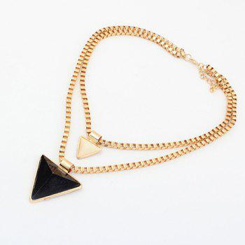 Triangle Pendant Multilayered Alloy Necklace