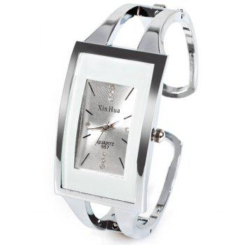 XinHua Quartz Watch with Diamond Dots and Strips Indicate Steel Watch Band for Women - Purple