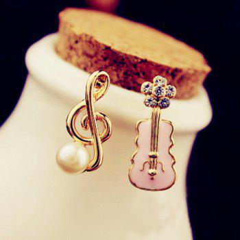 Musical Notation and Guitar Shape Earrings