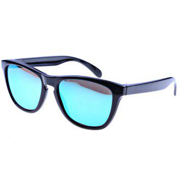High Quality Polarized Sunglasses with TR90 Material Frame and Blue Lens - (Black Frame)