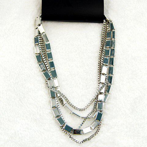 Multi-Layered Alloy Necklace For Women - COLOR ASSORTED