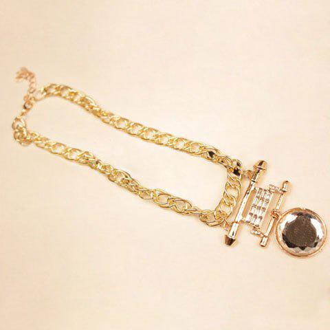 Characteristic Crystal Round Pendant Alloy Necklace For Women - COLOR ASSORTED