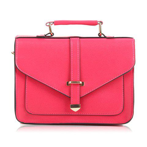 Casual Pure Color and Rivets Design Women's Tote Bag - WATERMELON RED