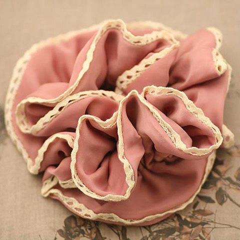 Elegant Lace Embellished Drape Design Wide Elastic Hair Band For Women - COLOR ASSORTED