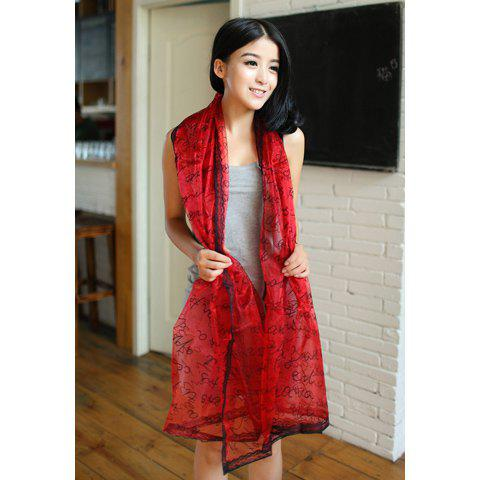 Fashionable Stylish Character Pattern Decorated Scarf For Women - COLOR ASSORTED