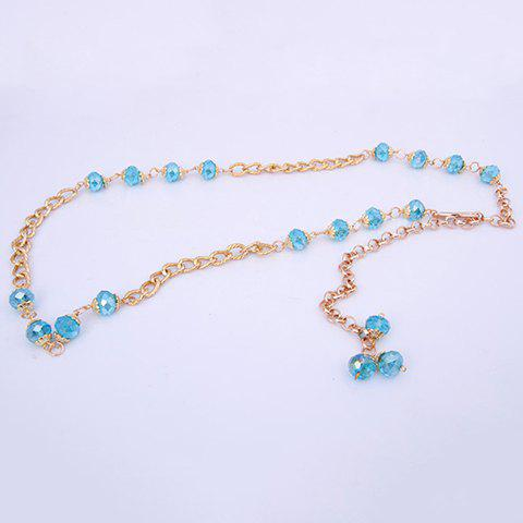 Fashionable Stylish Crystal Beads Decorated Belt Waist Chain For Women - COLOR ASSORTED