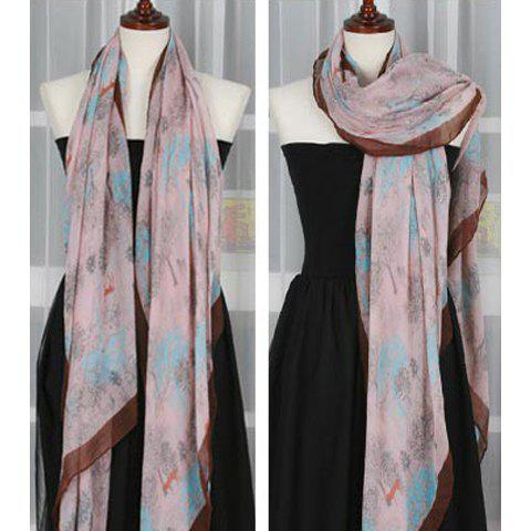 Fashionable Stylish Flower Deer Pattern Decorated Scarf For Women - COLOR ASSORTED