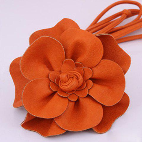 Exquisite Solid Big Flower Embellished Belt For Women - COLOR ASSORTED