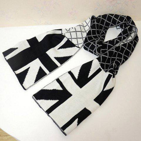 Fashionable Stylish Flag Pattern Decorated Scarf For Lovers - COLOR ASSORTED
