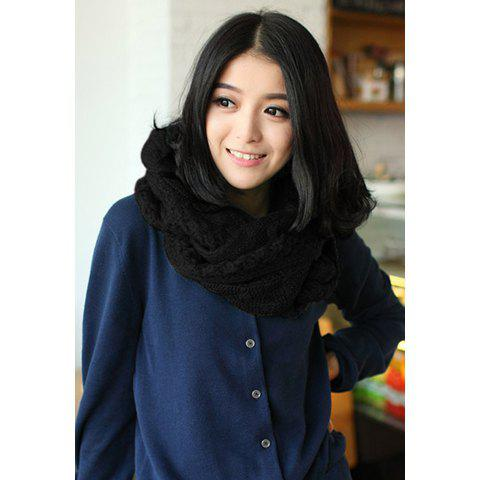 Fashionable Stylish Keeping Warm Solid Color Decorated Scarf For Women - COLOR ASSORTED